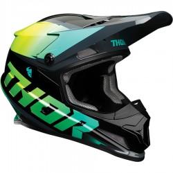 Motokrosová helma Thor S21 SECTOR FADER ACID/TEAL  HELMET 2021