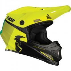 Motokrosová helma Thor S21 SECTOR RACR ACID/LIME HELMET 2021