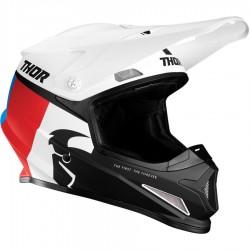 Motokrosová helma Thor S21 SECTOR RACR WHITE/RED/BLUE HELMET 2021