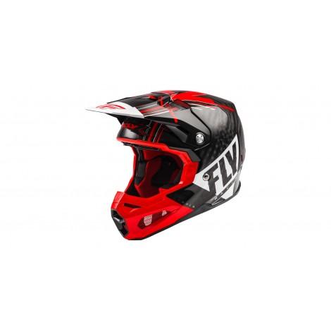 Motokrosová helma FORMULA VECTOR , FLY RACING - USA (ČERVENÁ/BÍLÁ/ČERNÁ) + Brýle zdarma