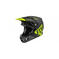 Motokrosová helma FORMULA VECTOR , FLY RACING - USA (matná HI-vis/šedá/černá) + Brýle zdarma