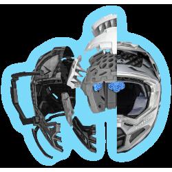 Motokrosové kalhoty Thor FUSE OBJECTIV BLUE/NAVY PANT 2017