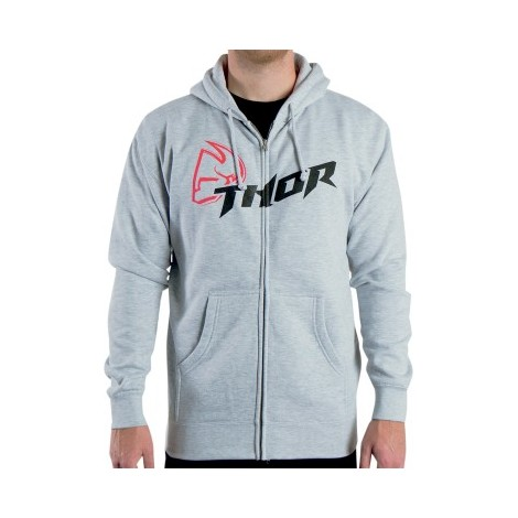 Mikina Thor Fusion zip šedá