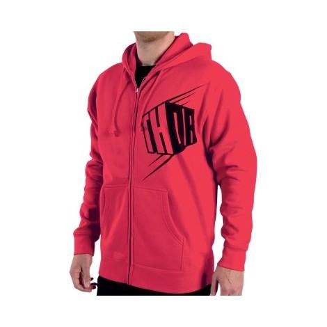 Mikina Thor Block zip červená