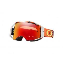 MX brýle Oakley Airbrake Prizm MX TroyLeeDesigns Megaburst Orange Navy Goggle