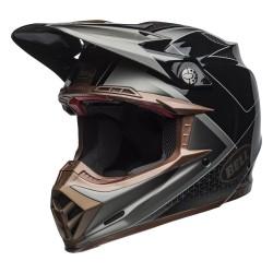 Motokrosová helma Bell Moto-9 Flex HOUND BLACK/BRONZE Carbon 2019