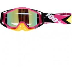 Motokrosové brýle 100% Hyper Black/Pink s čírým sklem