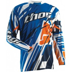 Thor FLUX SHRED BLUE JERSEY MX dres