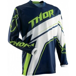 Thor PHASE STRIPE NAVY JERSEY MX dres
