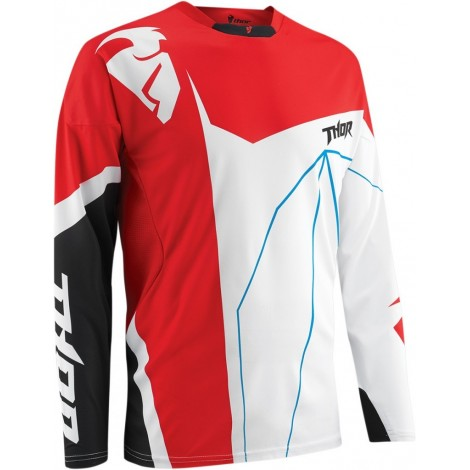 Motokrosový dres Thor S5 Splinter white/red MX/Enduro
