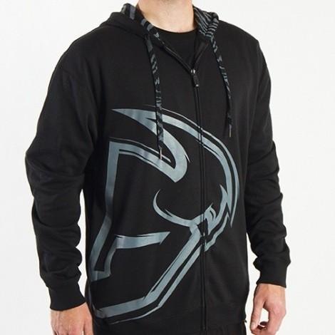 Mikina Thor Motocross Split Zip-Up Hoodie černá Civilní oblečení