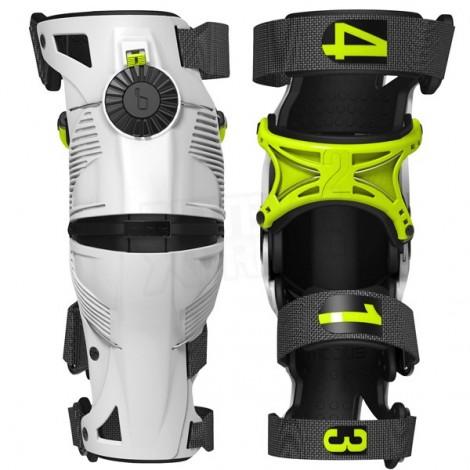 MOBIUS X8 kolenní ortézy pár pro motokros, enduro bílá/žlutá