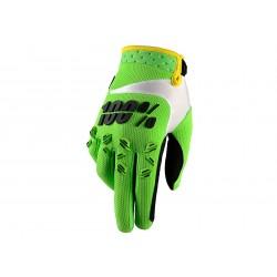 Motokrosové rukavice 100%  Airmatic Lime zelené MX/Bike