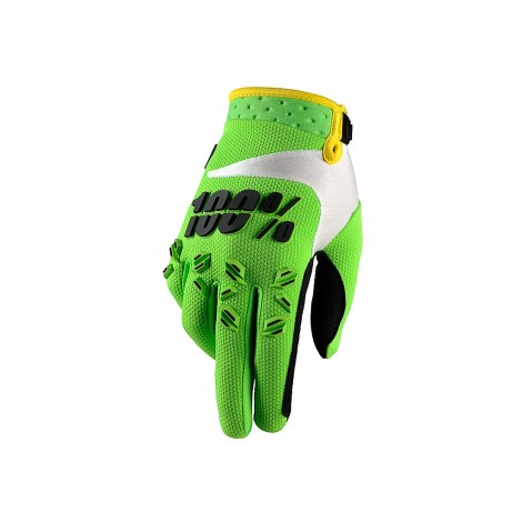 Motokrosové rukavice 100%  Airmatic Lime zelené MX/Bike