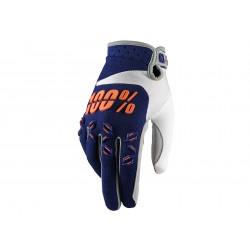 Motokrosové rukavice 100%  Airmatic Navy oranžové MX/Bike
