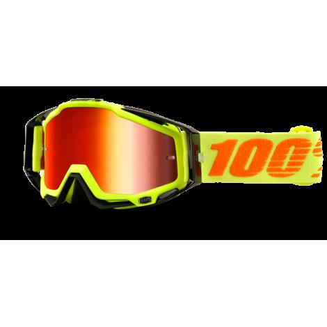 Motokrosové brýle 100% Attack Yellow se zrcadlovým i čirým sklem 2017