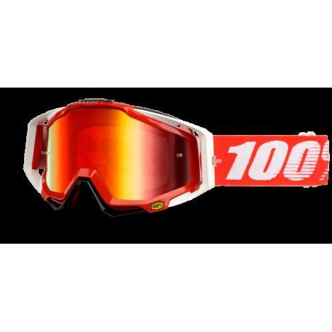 Motokrosové brýle 100% Fire Red s čírým sklem 2017
