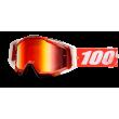 Motokrosové brýle 100% Fire Red se zrcadlovým i čirým sklem 2017