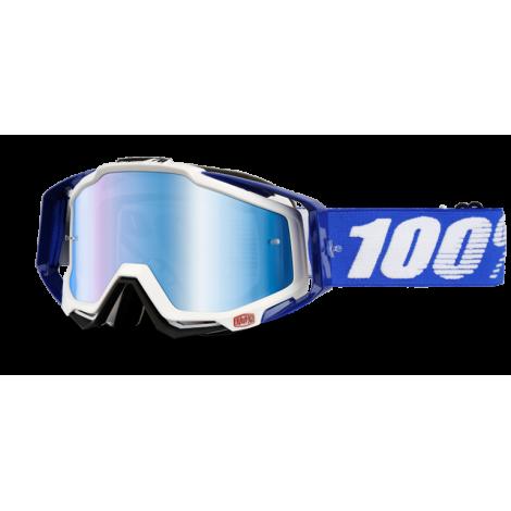 Motokrosové brýle 100% Cobalt Blue se zrcadlovým i čirým sklem 2017