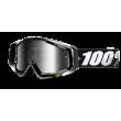 Motokrosové brýle 100% Abyss Black se zrcadlovým i čirým sklem 2017